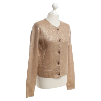 Prada Cardigan in Goldbraun