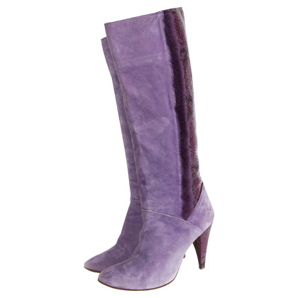 D&G purple suede boots