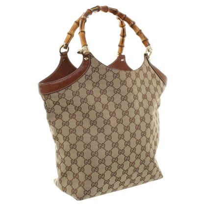 Gucci Bamboo Bag with Guccissima pattern
