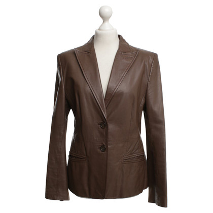 René Lezard Leather Blazer