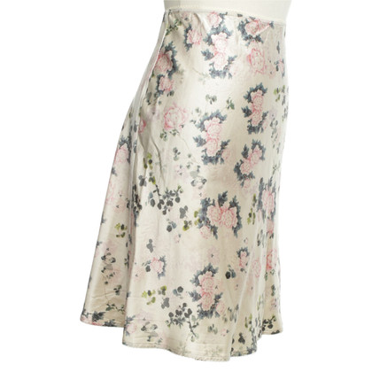 Marc Cain Silk skirt with floral pattern