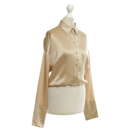 Strenesse Short silk blouse made of satin