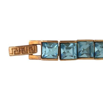 Versace Amband mit blauen Steinen