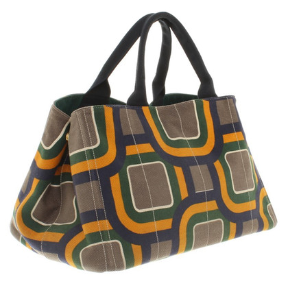 Prada Shopper with pattern