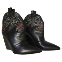 Rupert Sanderson Cowboy boots in black leather