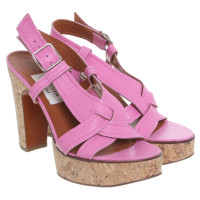 Lanvin Plateau sandals in pink