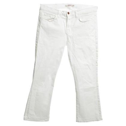 J Brand 3/4 Jeans in bianco