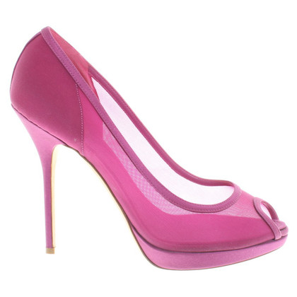 Christian Dior Peeptoes in fucsia