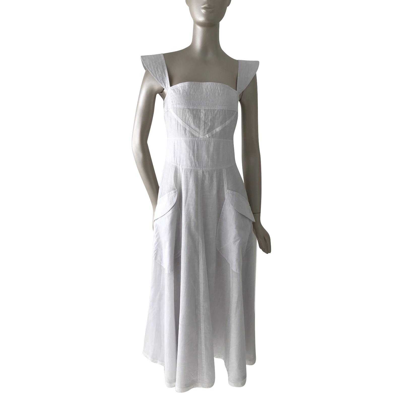 fendi kleid in weiß - second hand fendi kleid in weiß