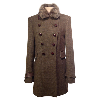 St. Emile Wool coat with real fur collar
