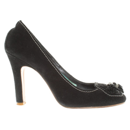 Marc Jacobs Suède pumps met decoratieve stiksels