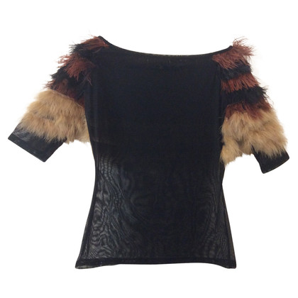 Ferre top with feathers