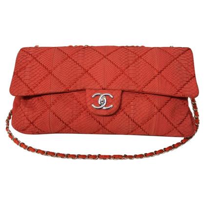 Chanel Flap Bag Python leer Limited Edition
