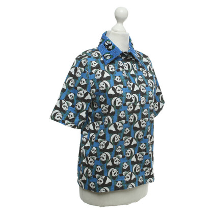 Au Jour Le Jour Short sleeve blouse with pattern