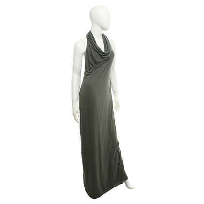 Helmut Lang maxi vestito color oliva
