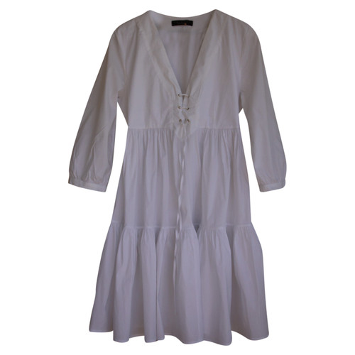 huge selection of 0c768 a2ee4 Twin-Set Simona Barbieri Dress Cotton in White - Second Hand ...