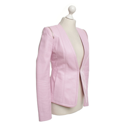 Philipp Plein Leather jacket in pink