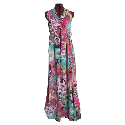 Blumarine Silk dress with a floral pattern