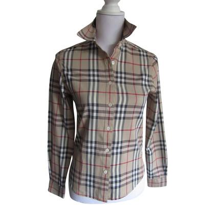 Burberry Nova Check blouse.