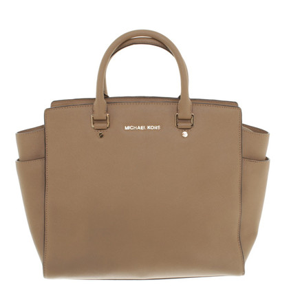 "Michael Kors ""Selma Satchel Large"" in Beige"