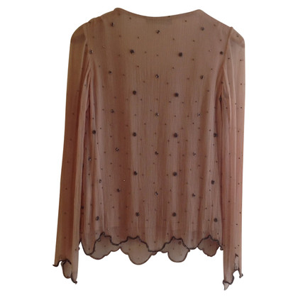 Twin-Set Simona Barbieri Silk top with beads