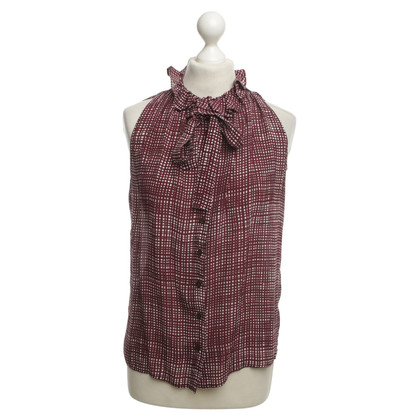 Other Designer 0039 Italy - Blouse in Bordeaux / White