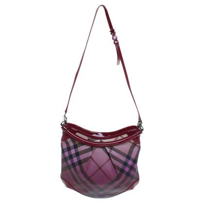 Burberry Borsa in Bordeaux Nova check modello con vernice