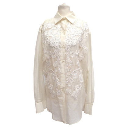 Etro Long blouse with lace trim