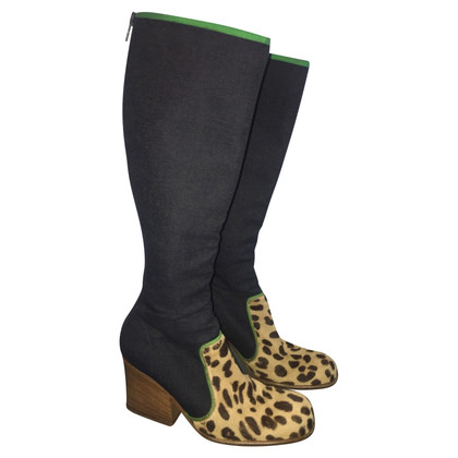 Dolce & Gabbana Boots, leder / denim