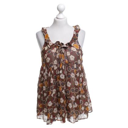 Marni Sleeveless blouse with pattern