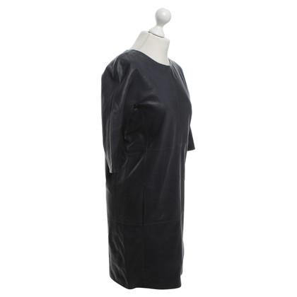Closed Lederen jurk in donkerblauw