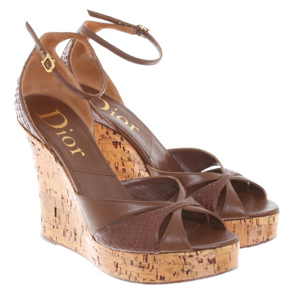 Christian Dior Wedges in Braun