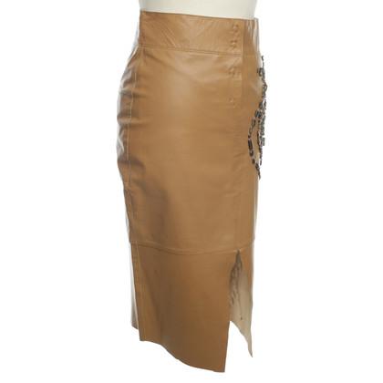 Patrizia Pepe skirt beige leather