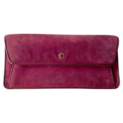 Marc by Marc Jacobs Wildleder-Clutch in Weinrot