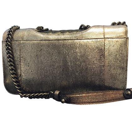 "Chanel ""Classic Flap Bag Medium"" hagedissenleer"