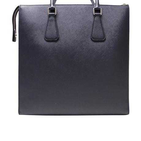 Prada Tote Bag aus Saffianoleder Blau Billig Verkauf Neueste Footlocker Finish Günstiger Preis Billig Verkauf 2018 Neueste Ebay Zum Verkauf iWIuw4krV