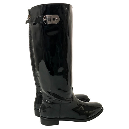 Burberry Patent leather riding boots