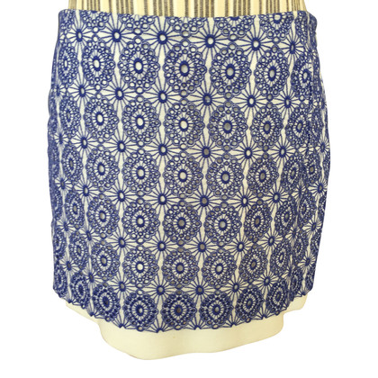 Diane von Furstenberg Blue lace mini skirt
