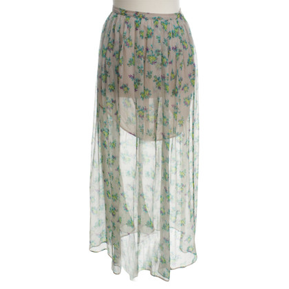 MSGM Maxi skirt with floral print