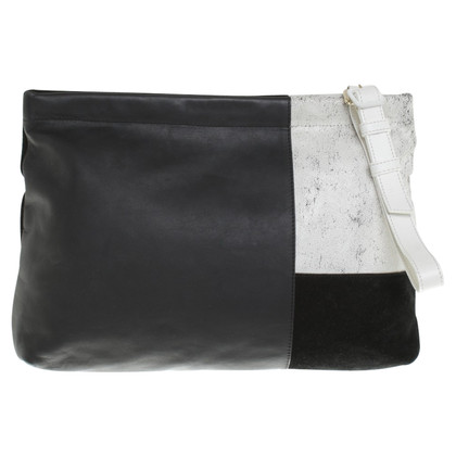 Whistles clutch in zwart / White