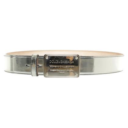 Dolce & Gabbana Zilveren riem