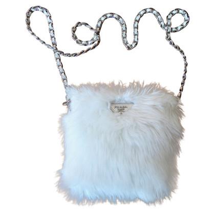 Prada Handbag with woven fur