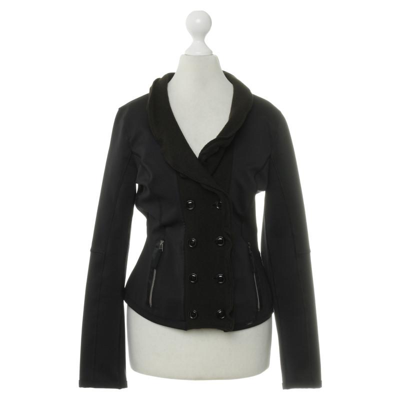 marc cain jacket in black brown buy second hand marc. Black Bedroom Furniture Sets. Home Design Ideas
