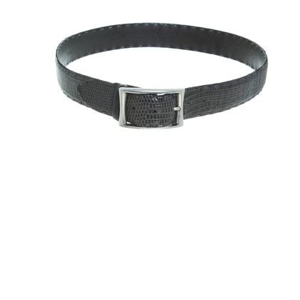 Reptile's House Belt in anthracite
