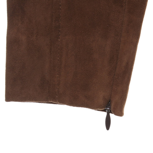 44898e665d6c5 Ralph Lauren Pantaloni di pelle marrone - Second hand Ralph Lauren ...