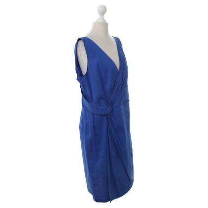 DKNY Abito in seta in Blu Royal
