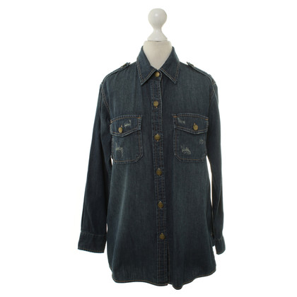 Current Elliott Camicia denim blu