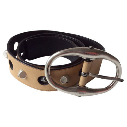 Yves Saint Laurent Leather belt with studs
