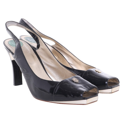 Versace Slingbacks in black