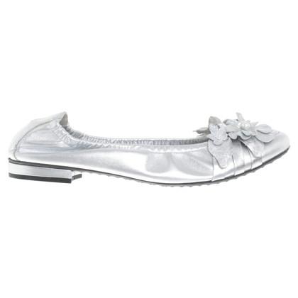 Kennel & Schmenger Silver-colored ballerinas